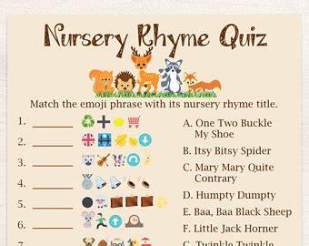 emoji quiz printable emoji nursery rhyme game pink baby shower game classic