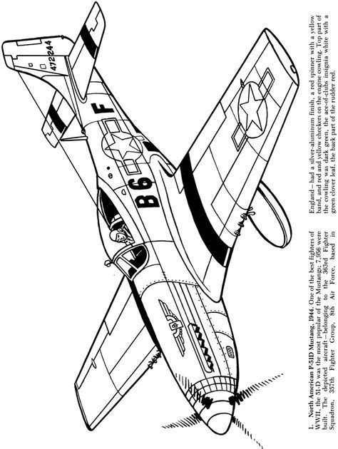 airplanes    world war coloring book dover