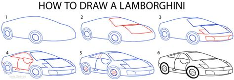 How Do You Draw A Lamborghini How To Draw A Lamborghini Step By Step Pictures Cool2bkids
