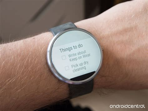 new android wear keep brings your notes to your wrist with new android wear support android central