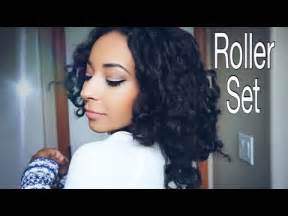 natural hair tutorial making your roller set youtube my roller set tutorial how i preserve my curls
