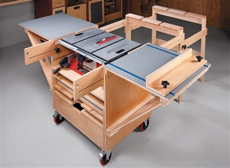 table saw bench plans table saw workstation woodsmith plans