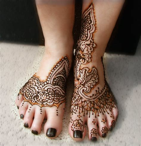 henna style foot tattoo amazing heena foot designs collections