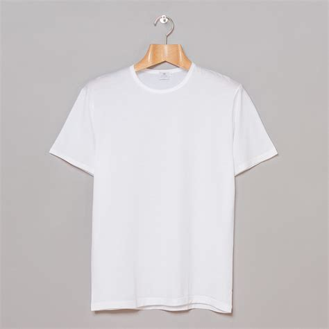 T Shirt White Sunspel Sleeve Crew Neck T Shirt White On The Hunt