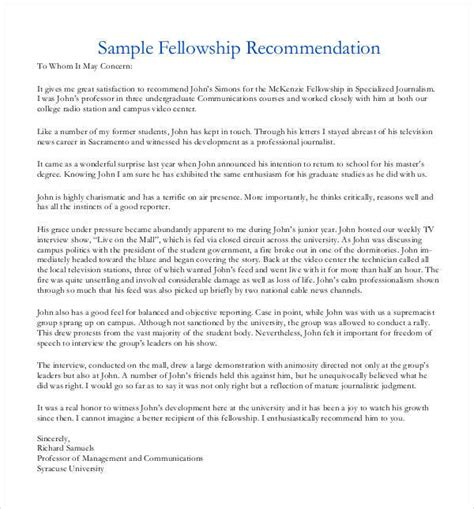 Writing A Recommendation Letter For A Fellow Letters Of Recommendation For Graduate School 38 Free Documents In Pdf Word