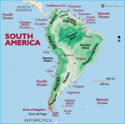 Latin America Physical Features Map by Maps Latin America Map Physical