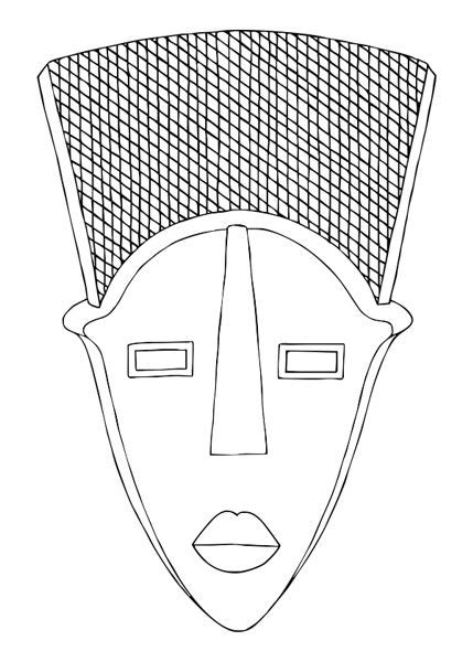 african tribal masks coloring pages coloring pages