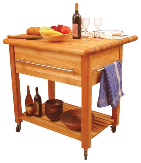 cuisine butcher block kitchen island cart with drop leaf catskill craftsmen grand island butcher block workcenter
