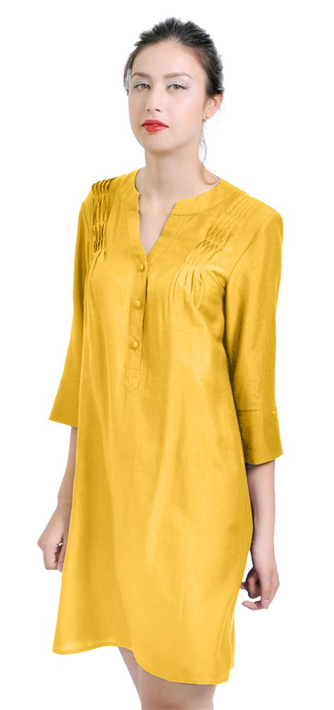 crafts womens casual silk cotton tunic dress blouse