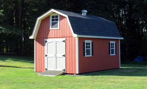 How To Build A Gambrel Roof by Exterior Gambrel Roof With Free Gambrel Shed Plans And