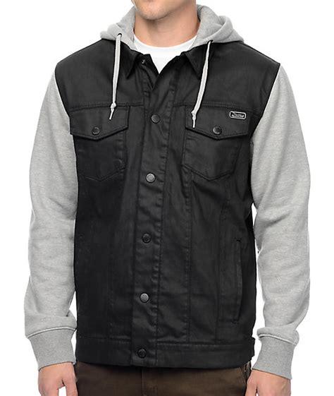 Vest Hoodie Black dravus sloaner black grey denim vest hoodie at