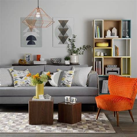 Orange And Gray Living Room by Best 25 Orange Living Rooms Ideas Only On