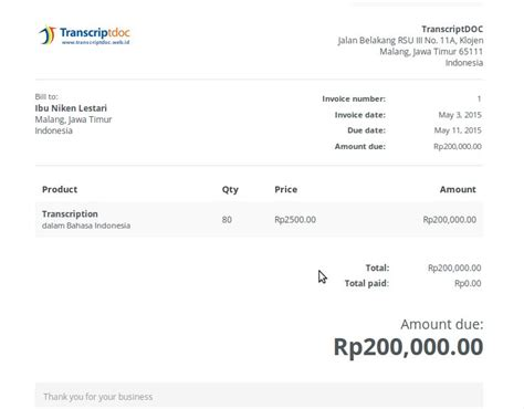 Contoh Invois Tagihan by 15 Contoh Invoice Tagihan Pembayaran Invoice Adalah