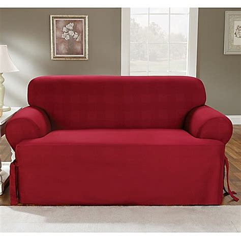 cotton duck sofa slipcover clearance sure fit 174 duck supreme cotton t cushion loveseat slipcover