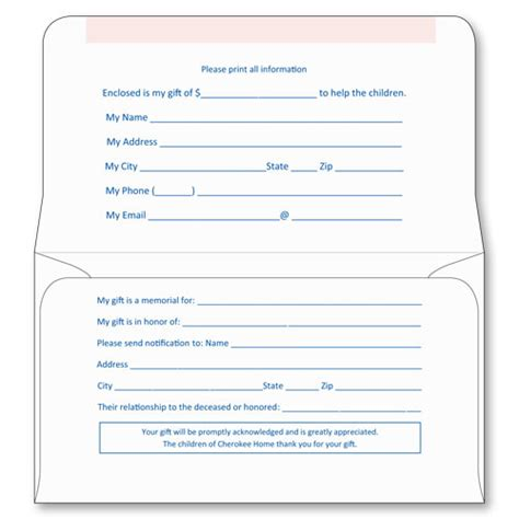 6 3 4 Kost Kut Remittance Style A Sheppard Envelope Donation Envelope Template