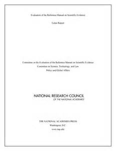 Book Cover Letter by Evaluation Of The Reference Manual On Scientific Evidence Letter Report The National