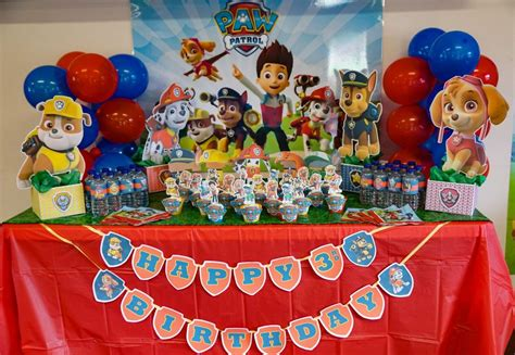 Mirror Decorations by Diy Paw Patrol Party Decoration Centerpieces Free