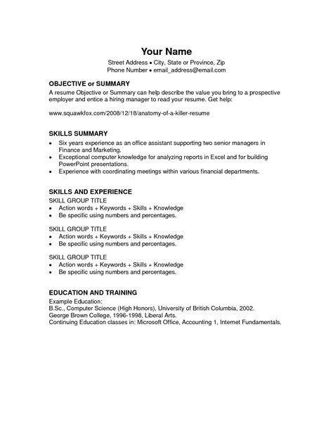 download resume template microsoft word 2010