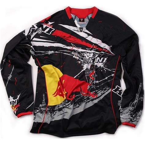 kini motocross kini red bull barbwire mx race shirt motocross jersey ebay