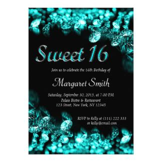 Sweet 16 Invitations by 16th Birthday Invitations Announcements Zazzle Co Uk