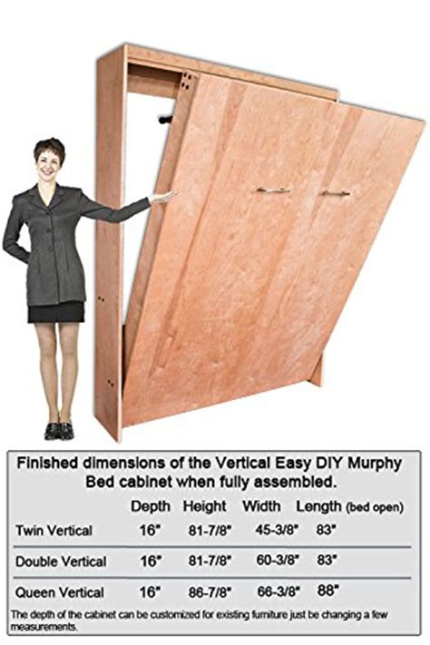 Murphy Bed Kit Cost Twin Size Deluxe Murphy Bed Kit Vertical In The Uae See