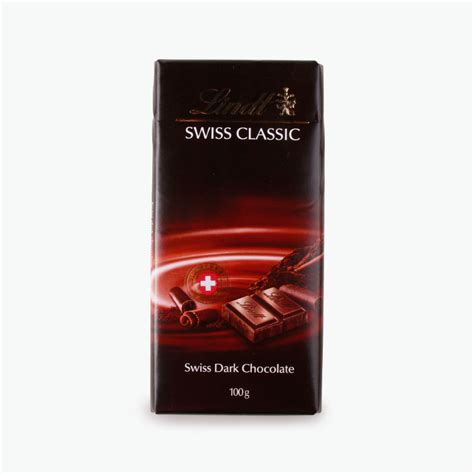 Small Bathroom Accessories Lindt Swiss Classic Dark Chocolate 100g
