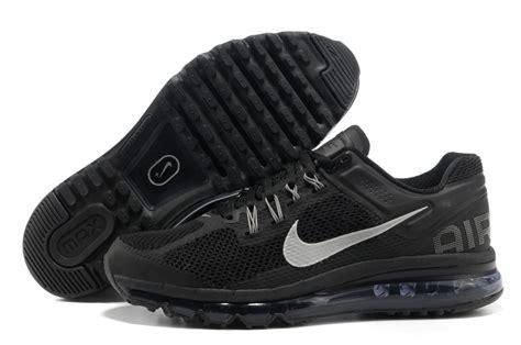 nike air max 2013 mens running shoes black