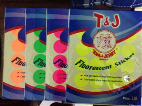 Alat Alat Tulis Tom And Jerry Label Paper Per Pack Small Pack distributor alat tulis kantor dan stationary label tom jerry no 118 fluorescent label tom and