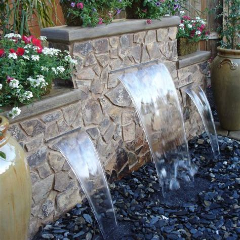 waterfalls for backyards backyard water features water features for the garden