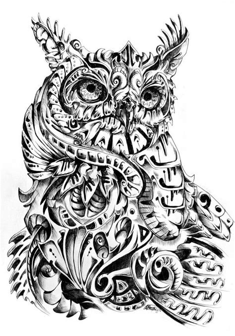 mechanical owl tattoo mechanical owl tattoos