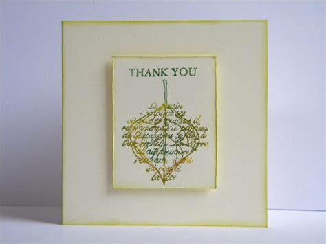 Handmade Thank You Card - thank you card the handmade card