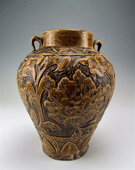 Tang Dynasty Vase by Tang Dynasty Shouzhou Ware Porcelain Vase With Incised