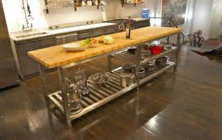 metal island kitchen the best commercial kitchen islands modern kitchens
