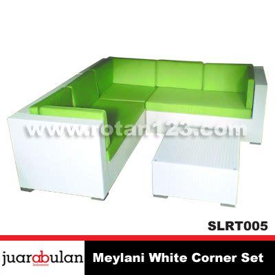 Sofa Chandra Karya Furniture harga jual meylani white sofa l corner set rotan sintetis