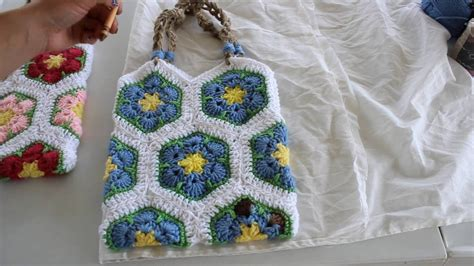 Line Pattern Bag how to line a crochet bag