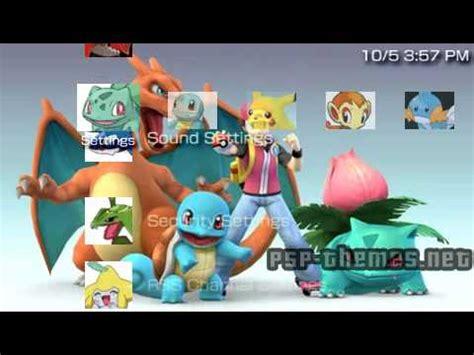 psp themes pokemon free download psp theme pokemon theme 2 psp themes net youtube