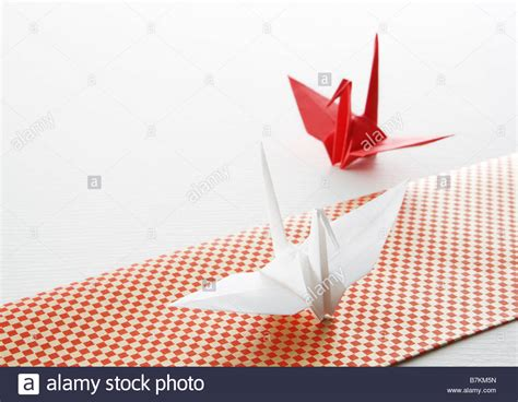 Folded Paper Crane - folded paper crane stock photo royalty free image