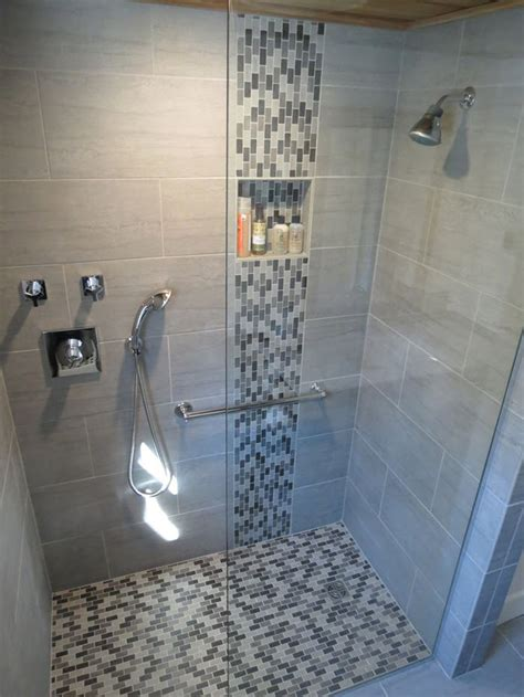 Mosaic Tile Designs Bathroom 39 Grey Mosaic Bathroom Floor Tiles Ideas And Pictures