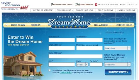 Taylor Morrison Dream Home Giveaway - dream home giveaway from taylor morrison back in 2011 realtybiznews real estate news