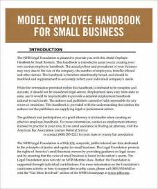 employee handbook template for small business employee handbook template 6 free pdf doc