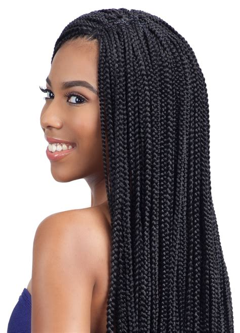 Longch Small model model glance crochet braid small box braid