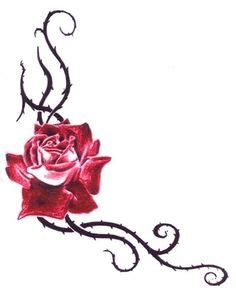 rose thorn bush tattoos minus the drops of blood or whatever that is more roses