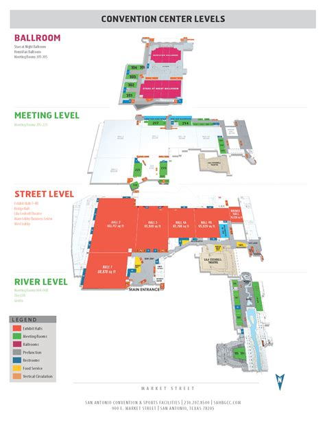 san antonio convention center floor plan floor plans