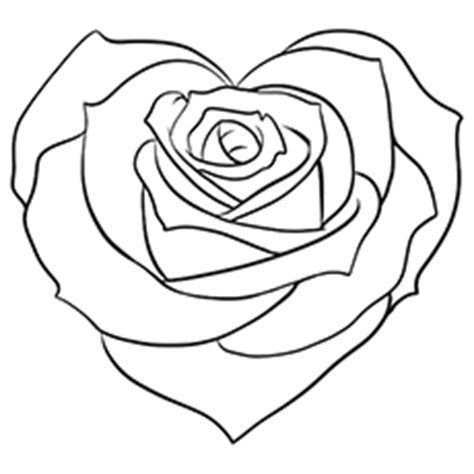 coloring pictures of roses and hearts rose coloring pages bestofcoloring com