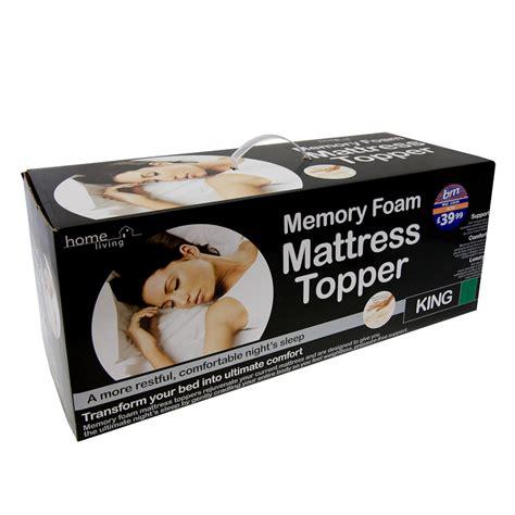 b m gt memory foam mattress topper king 233107