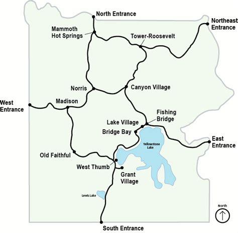 map of yellowstone yellowstone maps npmaps just free maps period