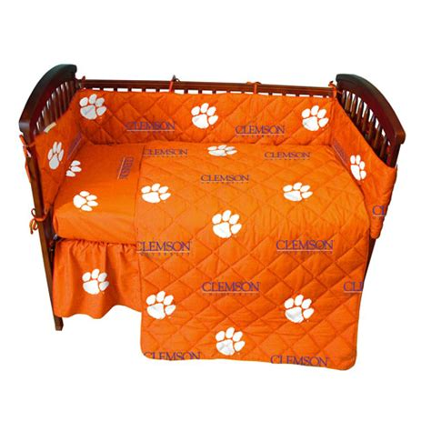 clemson bedding clemson tigers crib bed in a bag orange