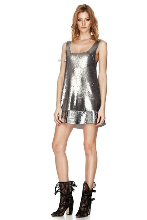 Silver Mini Dress silver mini dress ejn dress