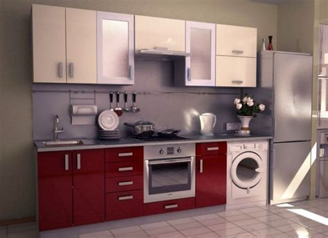 washing machine in kitchen design modular kitchen designs in red and washing machine for
