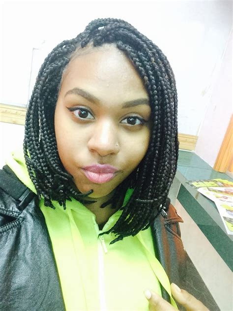 80 Bob Box Braids | my box braids medium size in a short bob for 80 yelp